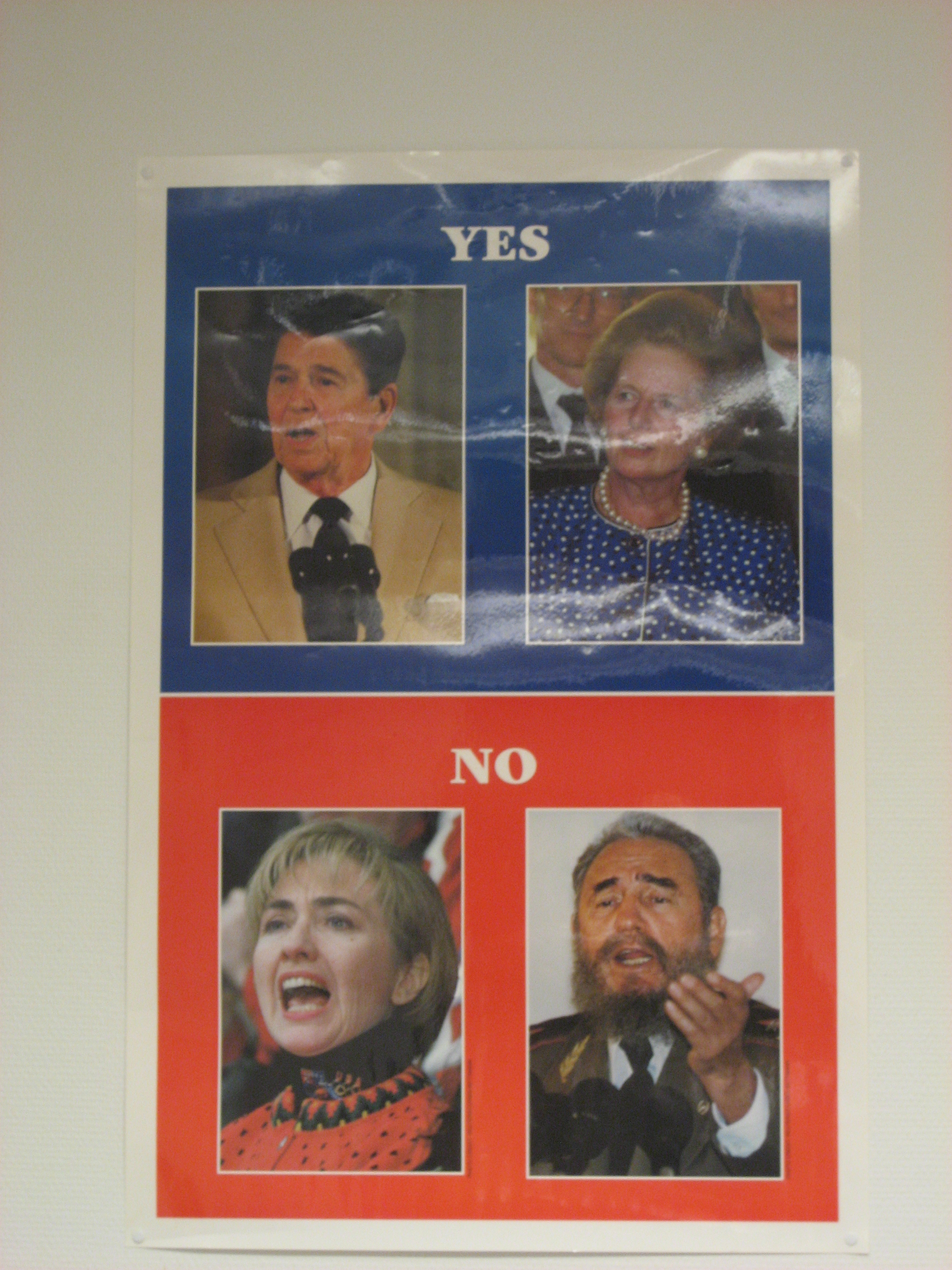 Reagan, Thatcher, Clinton, Castro