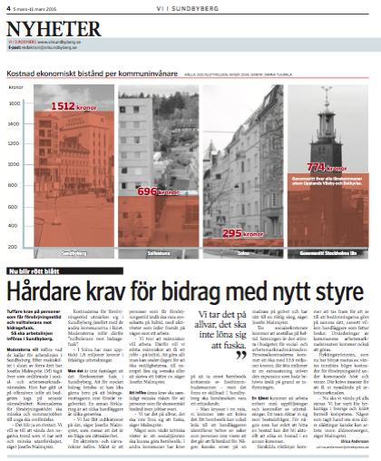 Artikel Vi i Sundbyberg bidrag 5 mars 2016