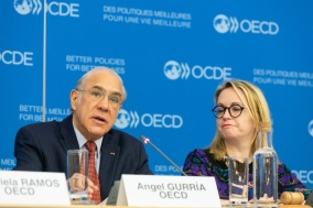 Meeting of the OECD Global Parliamentary Network opening speech of the meeting by Angel Gurria Seretary-General of the OECD. Carole Guthrie Head of Public Affairs & Media at OECD 26 february 2020 Paris, France Photo : OECD / Victor Tonelli